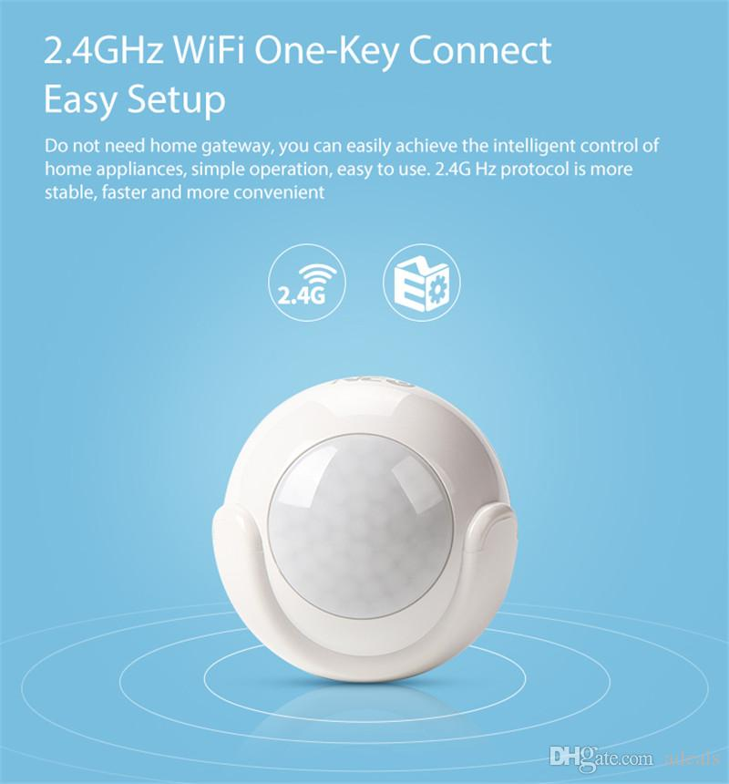Wifi Motion Sensor Alarm Detector PIR Motion Dectector For Smart Home Automation and App Notification Alerts,No Hub Need