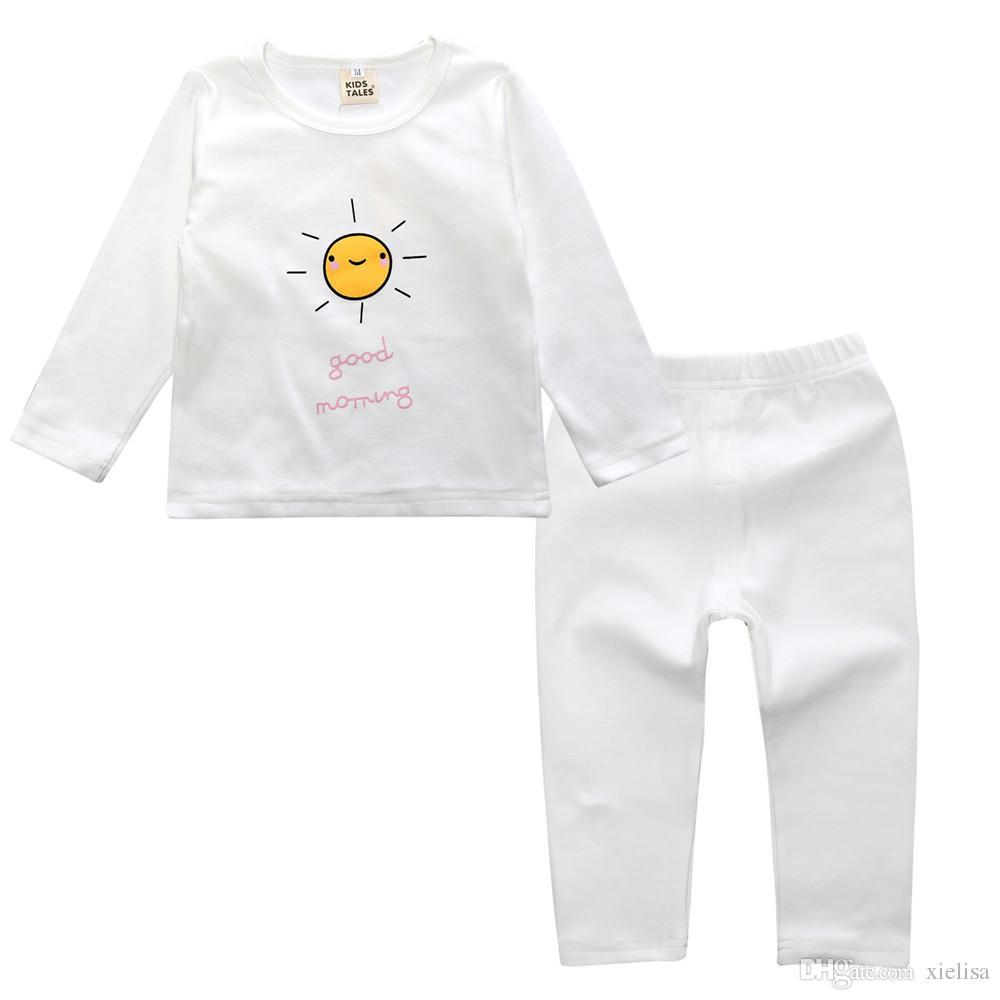 Kids Tales New Autumn Winter Kids Girls Pajamas Sets Pyjamas Boys Sleepwear Home Clothing Printed Cotton Baby Nightwear 2-5Y