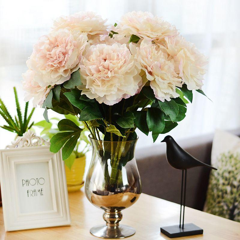 Best Quality Artificial Flowers Bouquet Peony Silk Flower European 5 ...