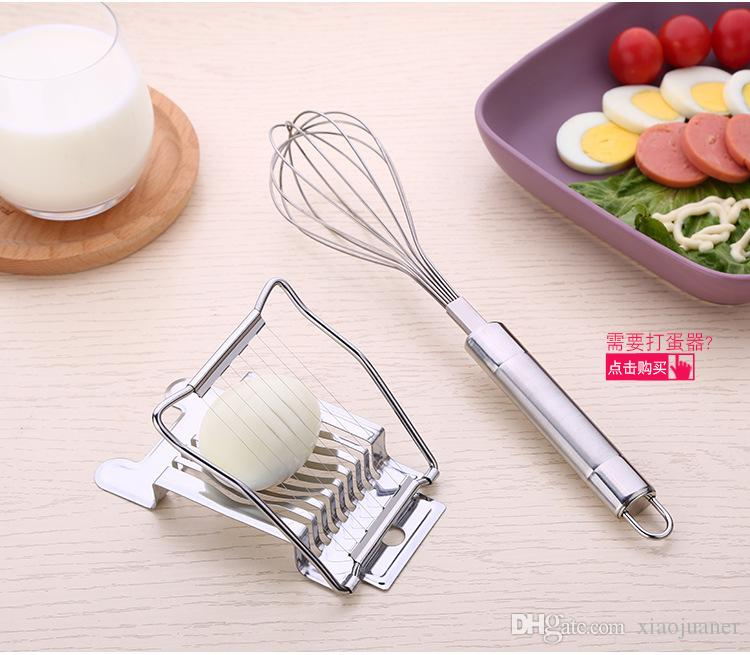 wholesale Egg Slicer Cutter Stainless Steel Egg Slicer Multifunction Kitchen Egg Slicer Sectione Cutter Mold Edges Kitchen Tool