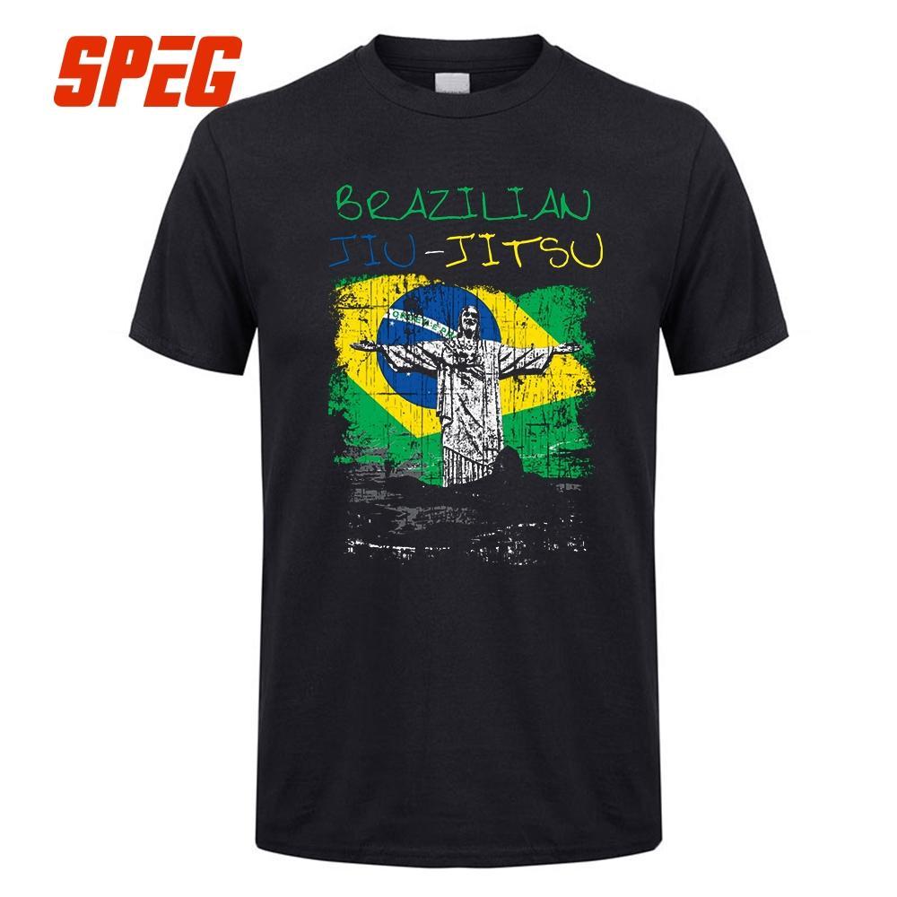 2fabb18176 Compre Camiseta Brasileiro Jiu Jitsu Bjj Brasil Homem O Judo Pescoço Brasil  Personalizado Trabalho T De Mangas Curtas Roupas Masculinas Fazer T Camisas  De ...