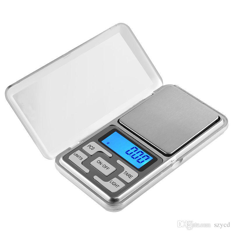 Mini portátil 200 g x 0.01 g Escala digital Joyas de bolsillo Equilibrio Peso Gram LCD con paquete al por menor