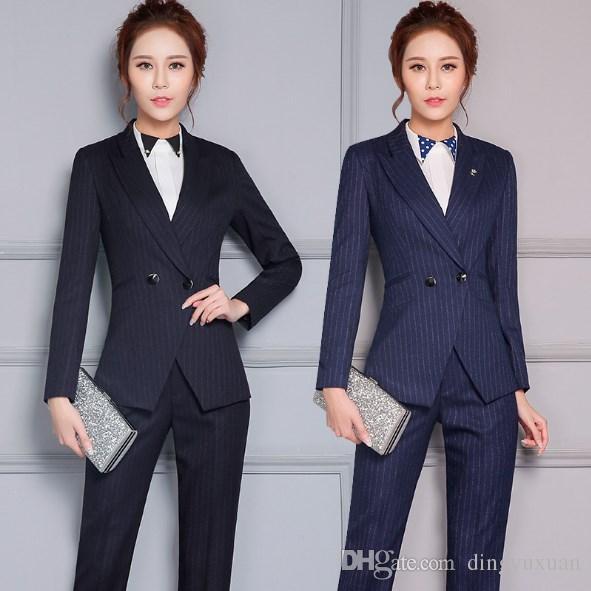 6b2123b254 Women business Suits 2018 Plus size 4XL Women s Pants Suit slim Suit  Jackets with Pants Office Ladies formal OL Pants Work wear sets