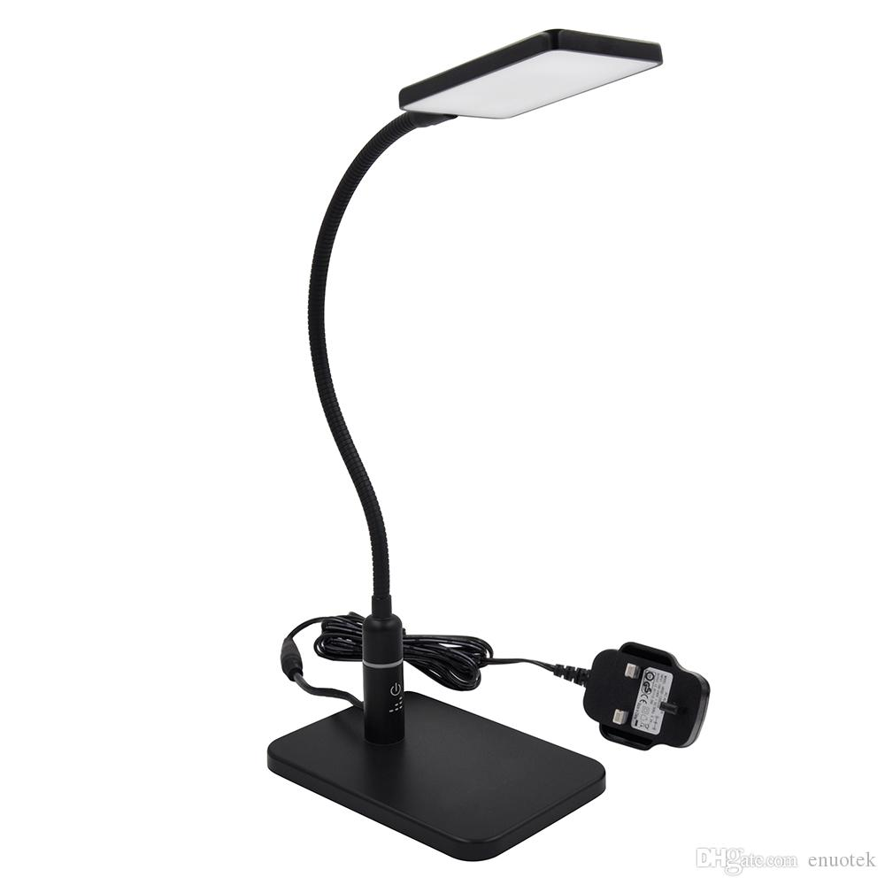 2018 Touch Dimmable Black Led Desk Lamp Flexible Metal Table Reading Light Bedside Energy Saving 5w Eye Care Daylight Lighting From Enuotek