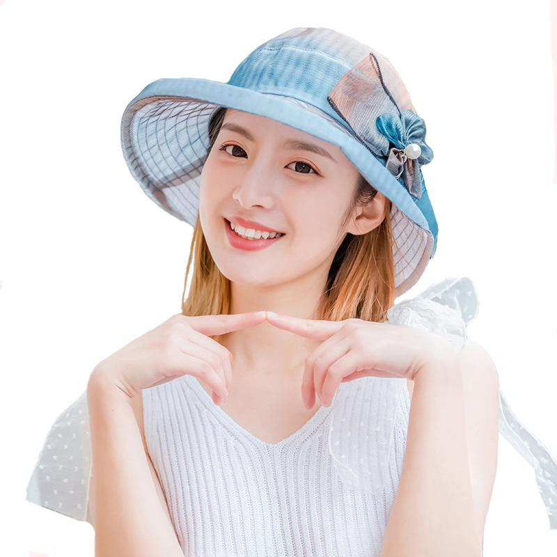 2018 New Women Summer Fordable Sun Hat Lady Sun Visor Caps Girls ... 39d0560a32d8
