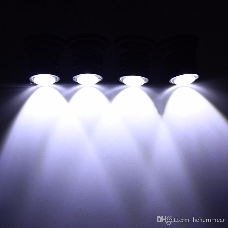 HEHEMM Su Geçirmez 4 W Araba Kamyon Strobe Acil Uyarı Işığı Evrensel Otomobiller Kartal Göz Flaş Far Lambası 4 LED Denetleyici
