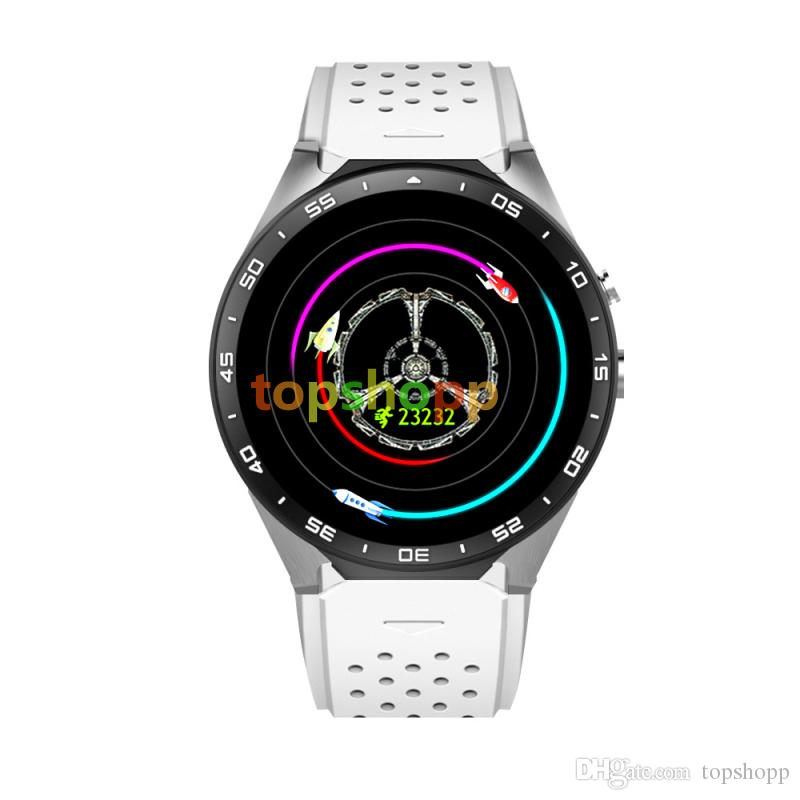 KW88 3G Smart watch Android 5.1 IOS watchs Quad Core support 2.0MP Camera Bluetooth smartwatch SIM Card WiFi GPS Heart Rate Monitor
