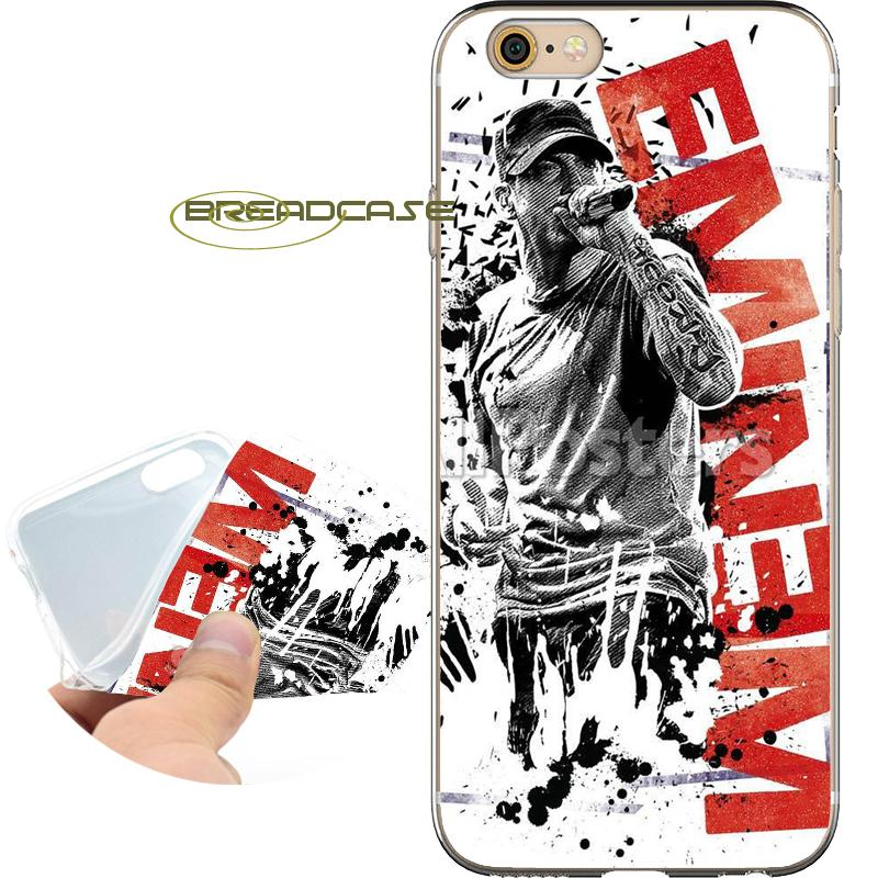 Eminem Singer Poster Shell Cases for iPhone 10 X 7 8 6S 6 Plus 5S 5 SE 5C  4S 4 iPod Touch 6 5 Clear Soft TPU Silicone Cover