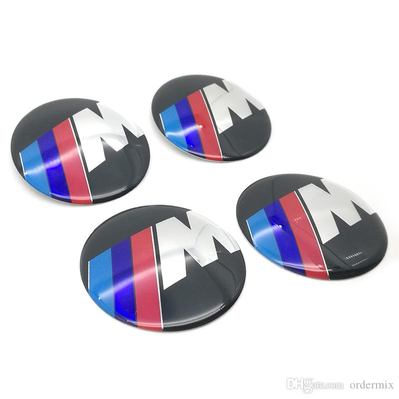Car Aluminium M Performance Wheel Hub Center Caps Emblem Styling M Logo Wheel Sticker For BMW 1 3 5 7 Series X1 X5 X6 E39
