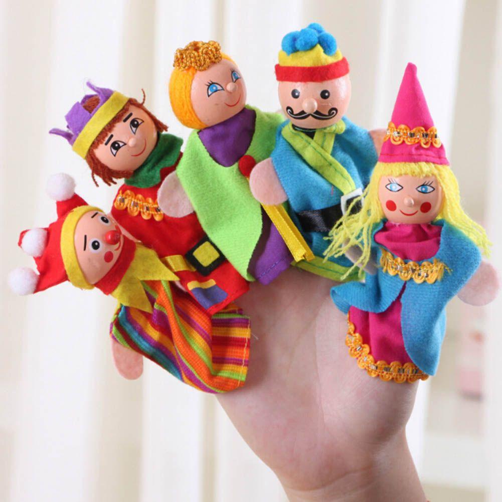 Finger Toys King And Clown Hand Puppets Regalo di Natale Bambino giocattolo educativo all'ingrosso