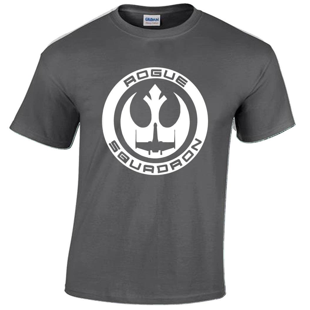 c44798ed9d25 ROGUE SQUADRON T SHIRT MENS TROOPER STORM REBEL FIGHTER X WING JEDI New T  Shirts Funny Tops Tee New Unisex Funny Tops Offensive T Shirts Sports T  Shirts ...