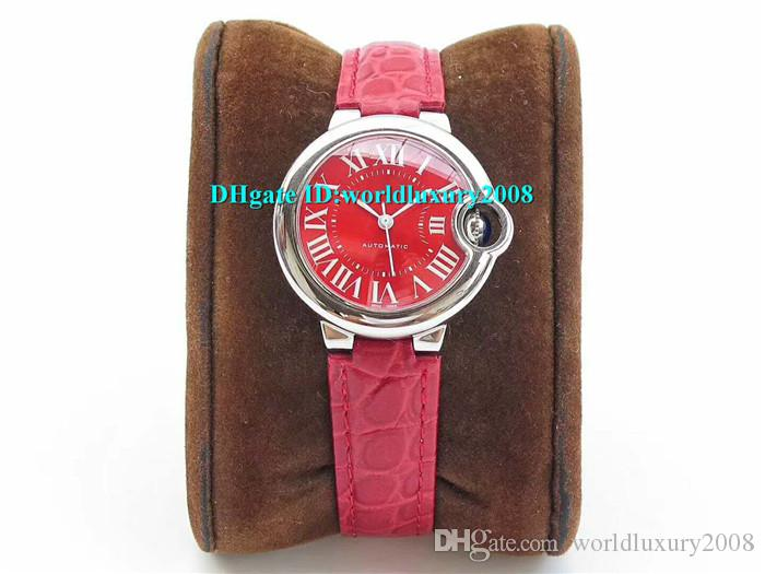 Luxury Brand TW Factory W6920071 33mm Ladies Watch 2018 New Style Stainless Steel Red Womens Watches Alligator Leather Strap Best quality
