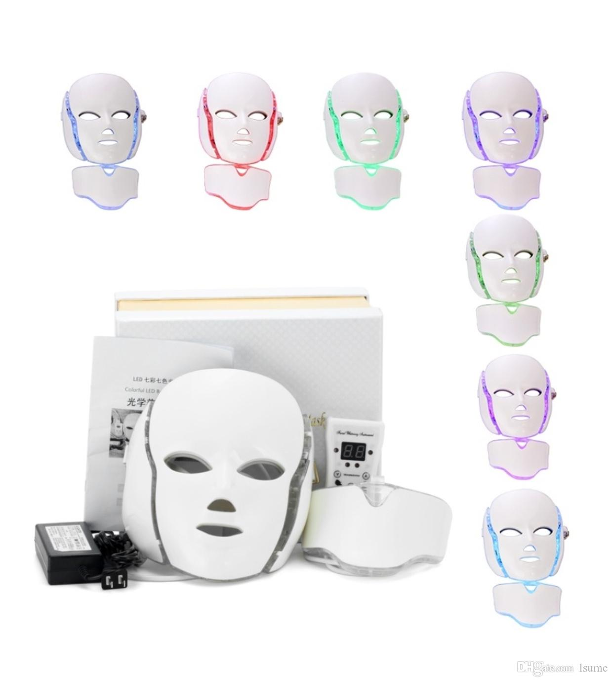 Professional Photon Led Facial Mask Skin Rejuvenation Anti Aging ...
