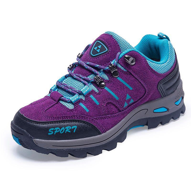 b65ca216620776 2019 New Trend Autumn Winter Mountain Trekking Hiking Shoes Women Lace Up  Wearable Women Hunting Sneakers Cheap From Shinysun