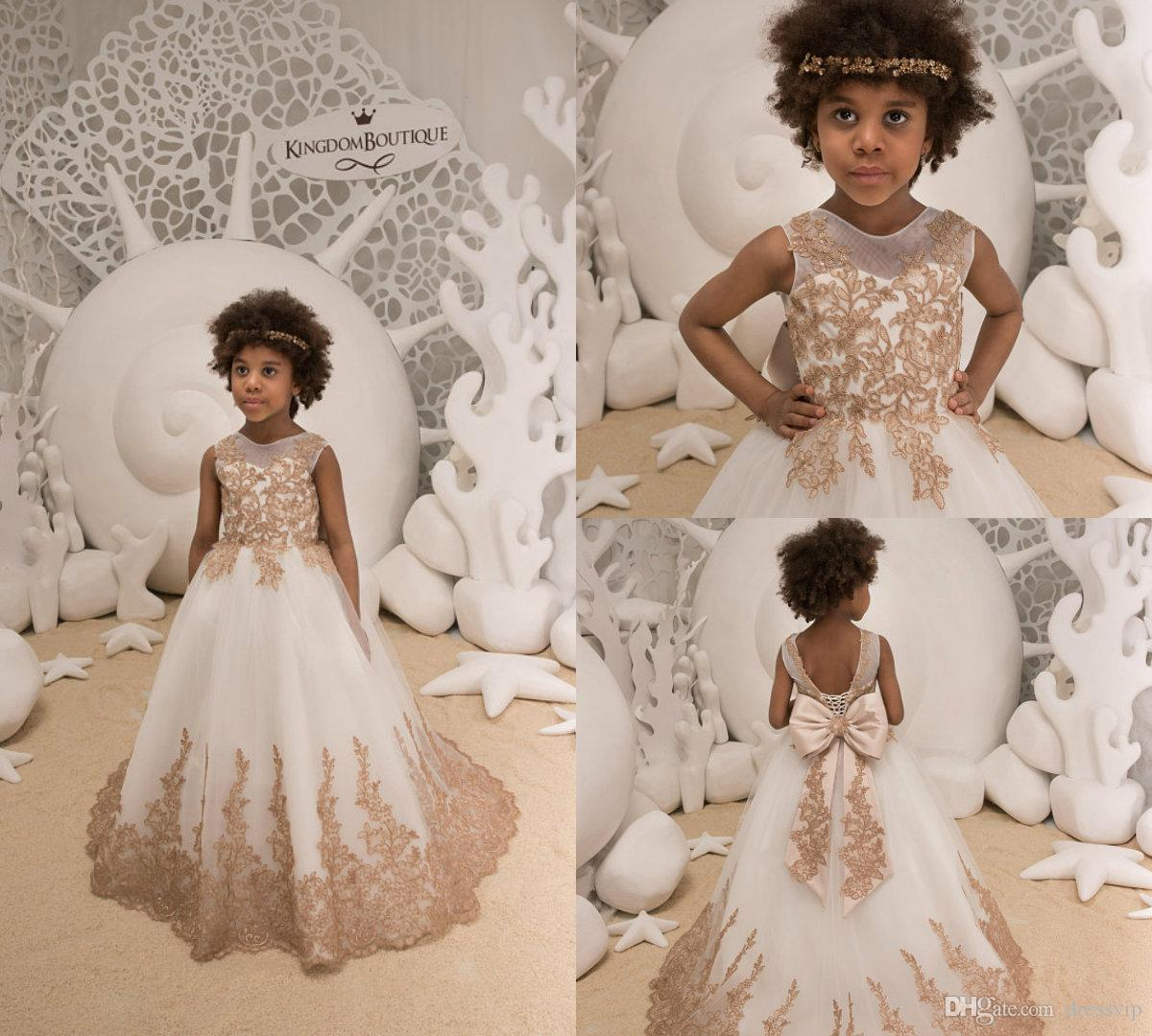b177bb3f36d 2018 Ivory And Cappuccino Flower Girl Dresses For Wedding Birthday Wedding  Party Bridesmaid Holiday Lace Black Girls Pageant Dress Girl Flower Dress  High ...