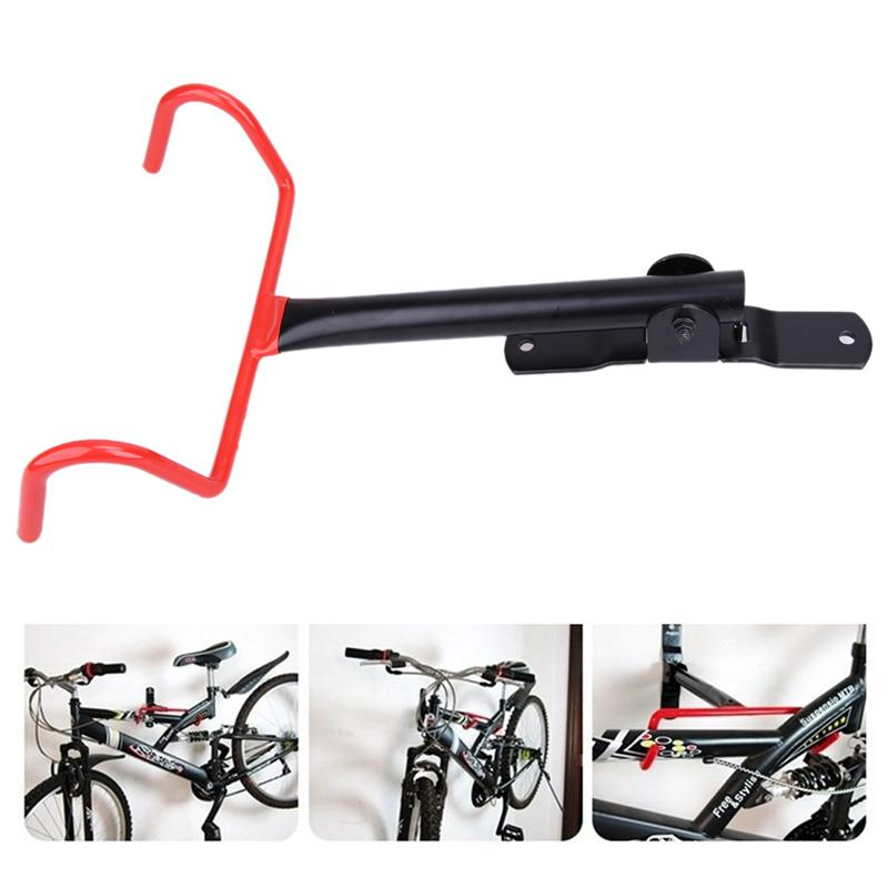 c92091ae7 Compre Montaje De Pared De Bicicleta Negro Soporte De Montaje En Bicicleta  Soporte De Pared De Acero Sólido Soporte De Gancho Ciclismo Rack De ...