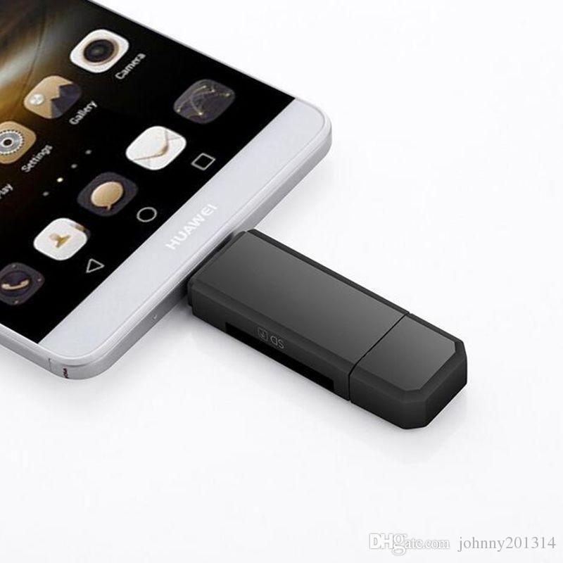 3 em 1 usb leitor de cartão otg flash drive de alta velocidade usb2.0 universal otg tf / sd cartão para o telefone android computador extensão de cabeçalhos