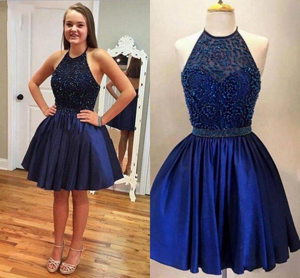 Vestido azul royal curto comprar