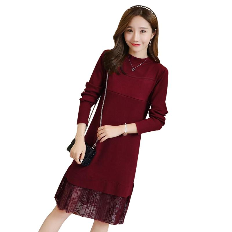 14fff599a3ab7 2019 Fashion Lace Nursing Breastfeeding Dress For Maternity Long Sleeve  Pregnant Spring Autumn Clothing Dress Causal Pregnancy C495 From  Paradise02, ...