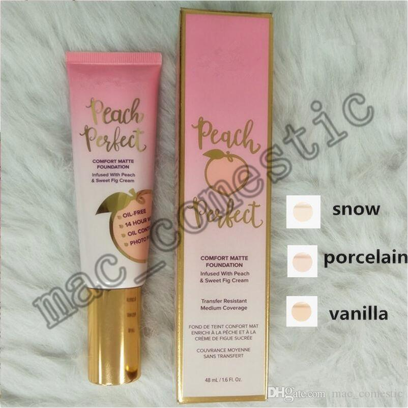 to face Peach Foundation Peach perfect comfort matte foundation 48ml Face cream infused with peach & sweet fig cream top quality