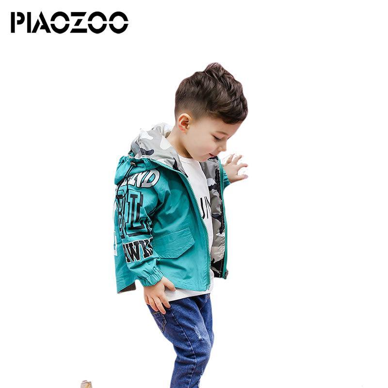62829284f Hooded Boys Jackets 2sides Sport Camo Coats For Baby Boys Outerwears 2-6Y Children's  Jackets Autumn Outdoor Windbreak jacket