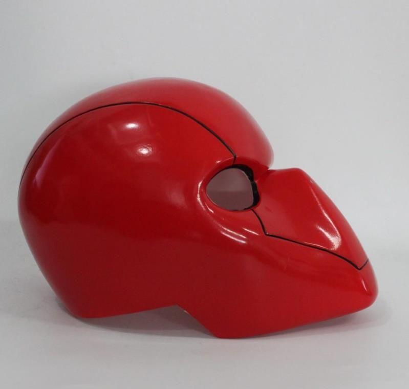 Cosplay Kırmızı Kaput Maskesi Batman Kırmızı Başlık Kask Tam Kafa PVC Cosplay Kostüm Prop Fantezi Parti Şapkalar