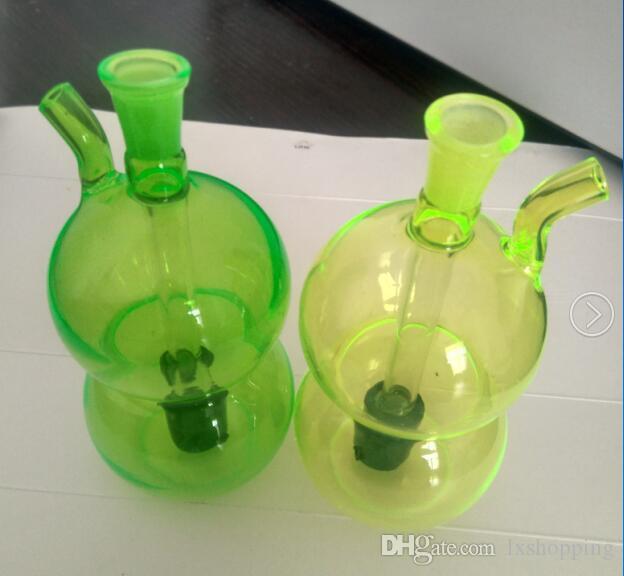 2018 Il colore del bicchiere d'acqua bottiglia di tabacco da fiuto zucca, all'ingrosso Bong di vetro accessori, tubo di acqua di vetro fumatori, spedizione gratuita ytut4220