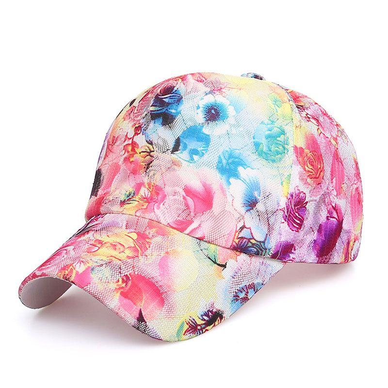 e1720ccd5f2 Women Fashion Vintage Adjustable Sport Floral Printed Baseball Caps Summer  Snapback Hip Hop Sun Hats Sunbonnet Accessories 2018 Mens Caps La Cap From  ...