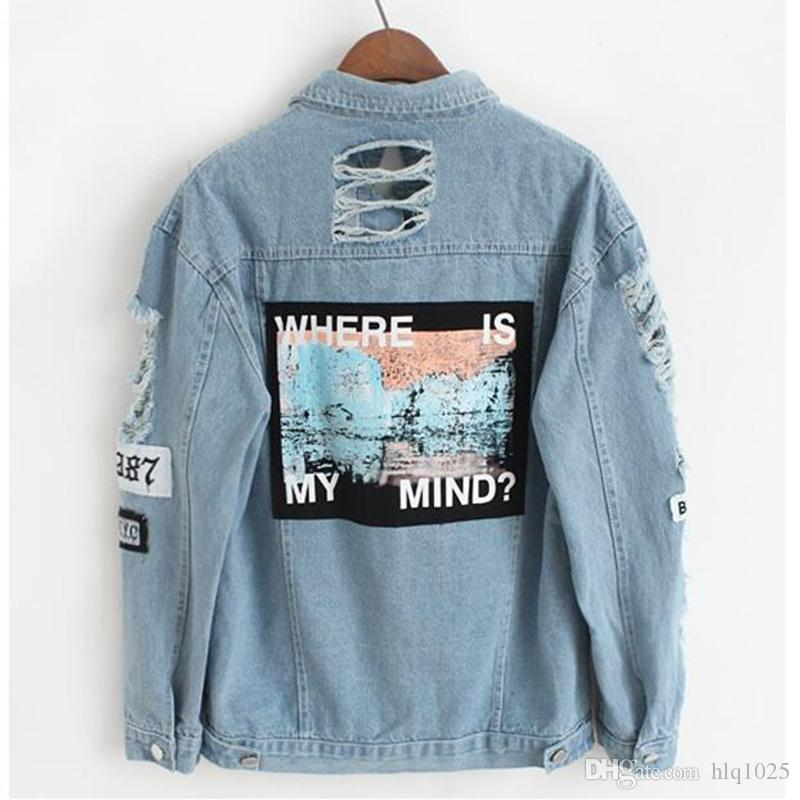 983ca52588a8 Vintage Fashion Wash Water Distrressed Denim Jacket Embroidery ...