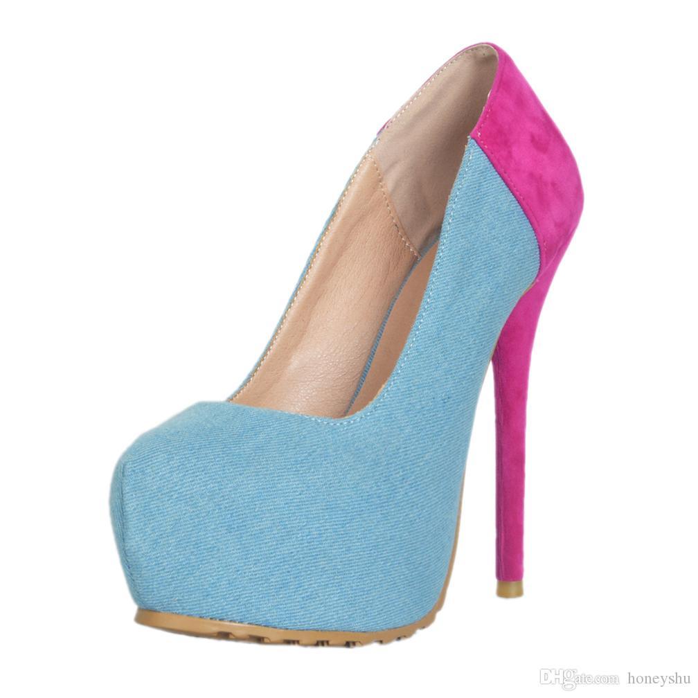 0378c3bcb0e8 Kolnoo Hot Selling Women Ladies Handmade High Heel Platform Pumps ...