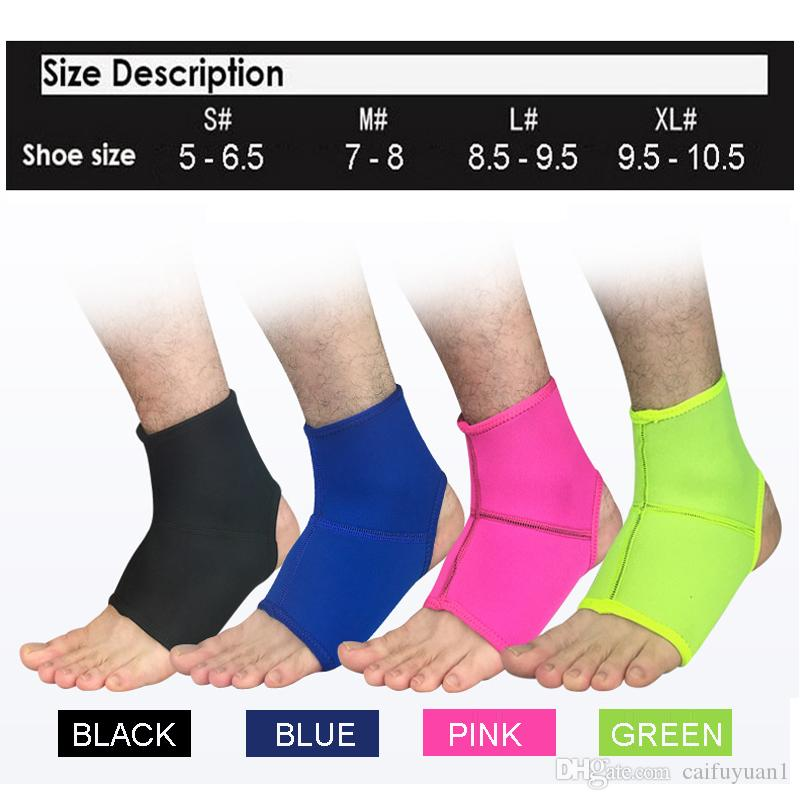 Sports Ankle Support Ankle Pads Elastic Brace Guard Foot Ankles Protector Wrap For Bicycle Football Neoprene Basketball Wholesale