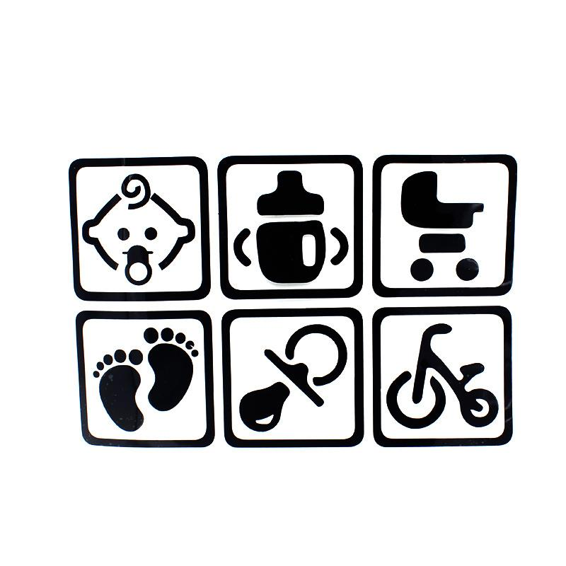 30*20cm Baby on Board and Car Baby Footprints Rear Feet Baby In Car Rear Window Body Window Car Stickers