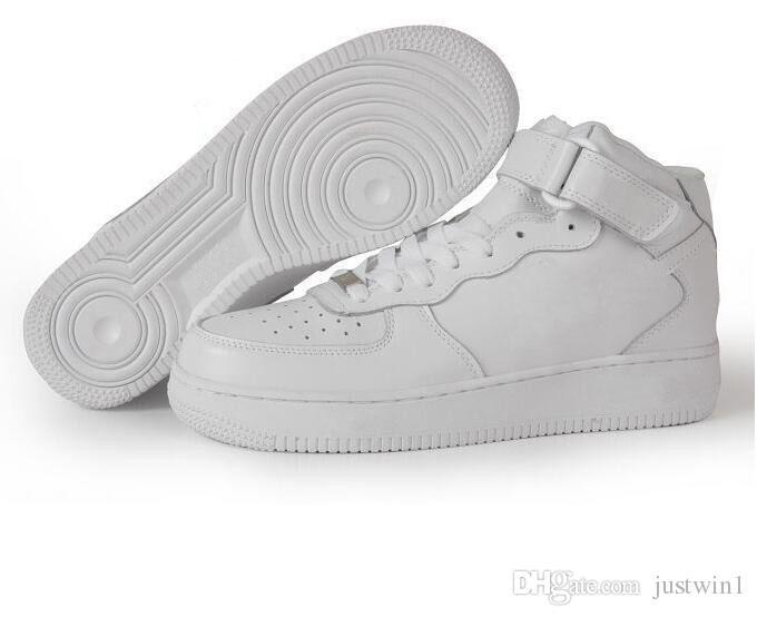 sneakers CORCHO PARA HOMBRES nike Air Force 1 MUJERES CALCETINES DE UNA CALIDAD 1 1 CORTES BAJOS TODAS LAS Sneakers Blancas de Color Negro Tamaño US 5.5-12