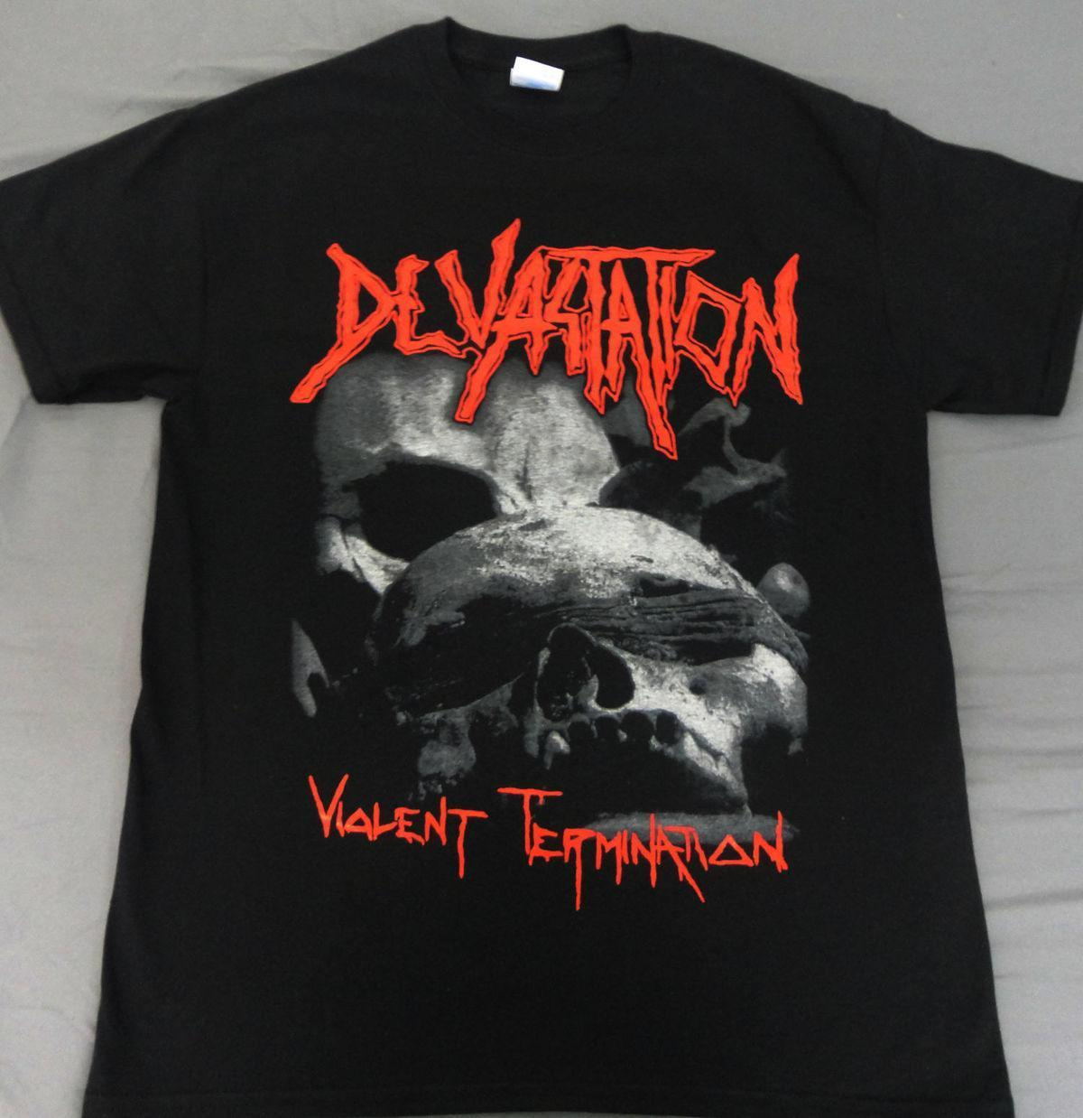 DEVASTATION - VIOLENT TERMINATION, MEDIUM T Shirt Cotton Low Price Top Tee for Teen Boys 2018 New Mens T-Shirts Plus Size