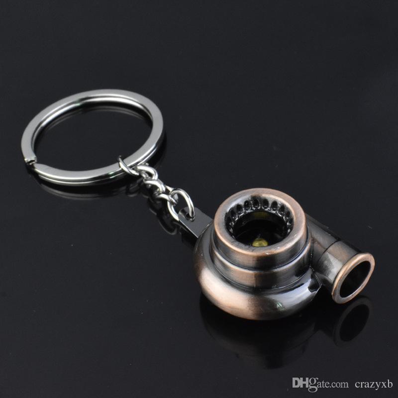 suti Originalité Métal Turbo Porte-clés À Manches À Rouleaux Spinning Auto Modèle De La Marque Turbocompresseur Turbocompresseur Porte-clés Anneau Porte-clés