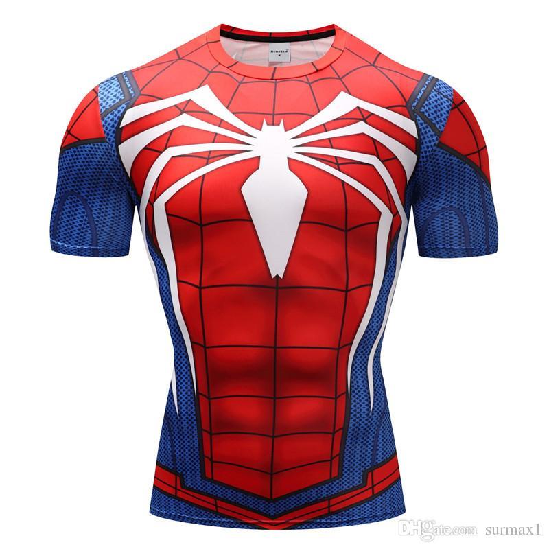 Acheter T Shirt Pour Homme 3D À Manches Courtes Imprimé Spider Man ... df5e45550a5
