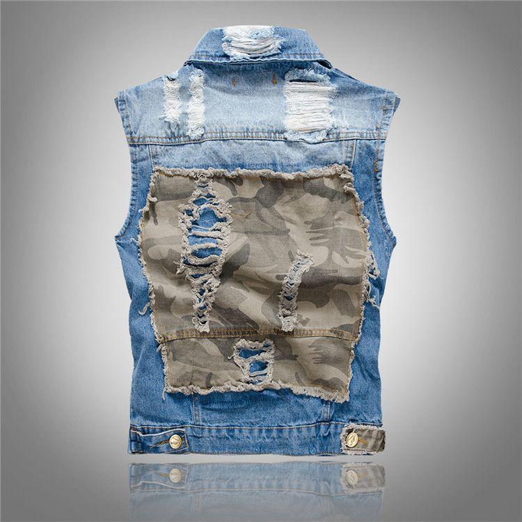 da4c32472c3 2019 Menim Vest Plus Size Camo Casual Vest Male Female Thin Jeans Jacket  Sleeveless Spring Summer Autumn Tops M L XL XXL 3XL 2018 From Boniee