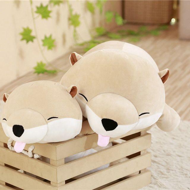 2019 45 60cm Lovely Otter Plush Toy Soft Cartoon Sea Otter Pillow