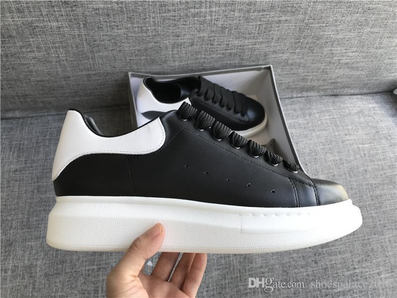 49085f555cf Compre Preto Branco Plataforma Clássico Sapatos Casuais Casual Esportes  Sapatos De Skate Das Mulheres Dos Homens Sneakers De Veludo Heelback  Vestido Sapato ...