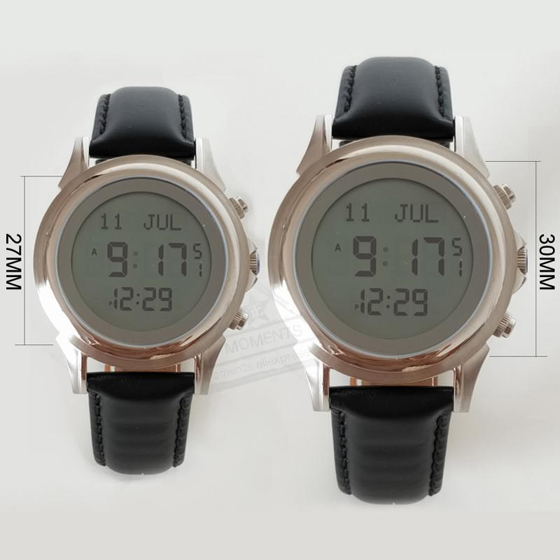 Lover Watch for Muslim Prayer with Qibla Compass 6381&6382 Azan watch for  Parents with World Prayer Times Parents