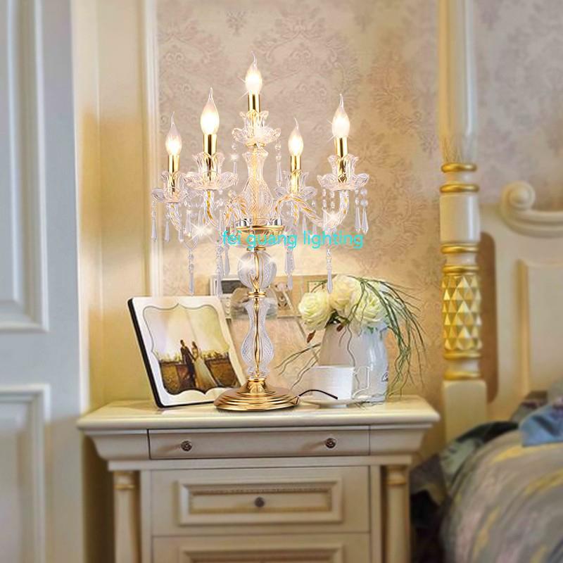светодиодные свечи украшения стола свеча настольная лампа хрустальные канделябры лампы большой ресторан столовая бар настольные лампы спальня ZT0011 #