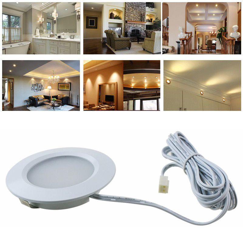 dc 12v 3w led under cabinet light kit 6000k 6500k cool white puck