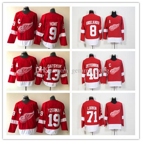 71 Dylan Larkin Jersey 2018 New Detroit Red Wings Hockey 40 Henrik  Zetterberg 9 Gordie Howe 19 Steve Yzerman 13 Datsyuk 8 Abdelkader Jerseys Dylan  Larkin ... 1119b7ce0