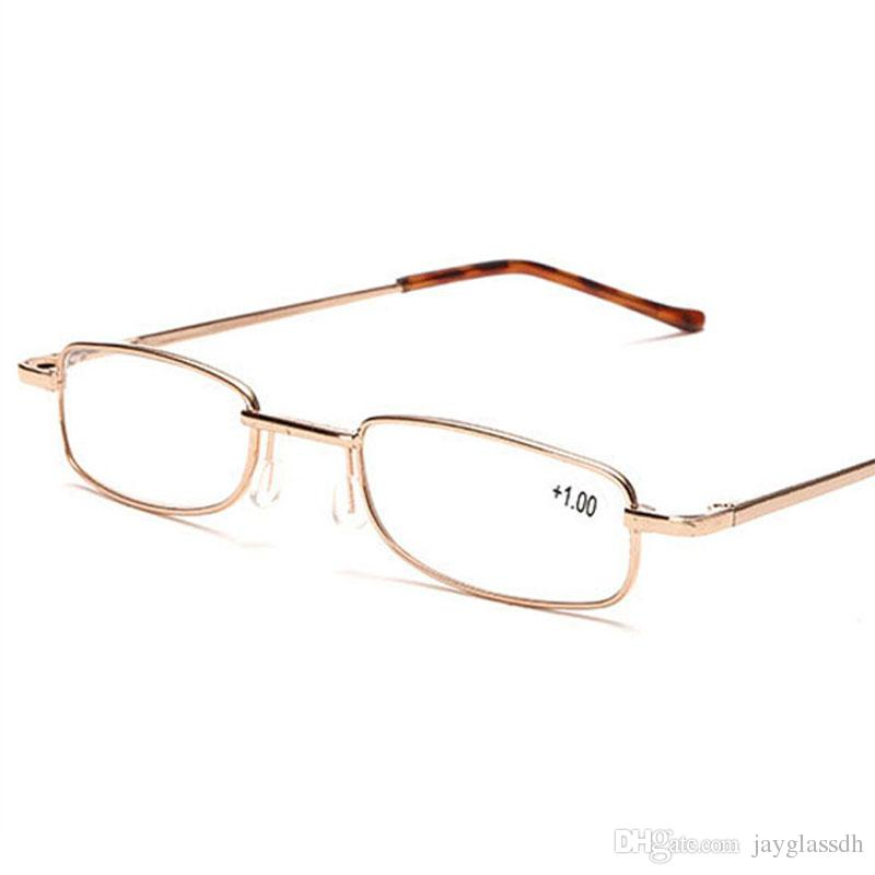 35e185531ef Good Quality Unisex Metal Reading Glasses Gold Color Portable ...