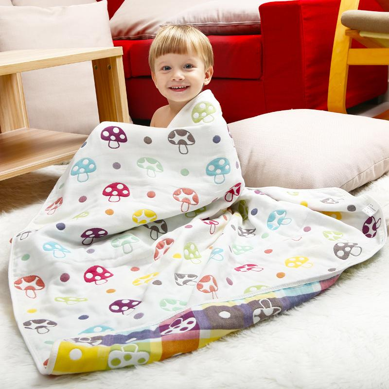 100% Cotton Kids Bath Towels Cover Blanket Cotton Gauze Newborn ...