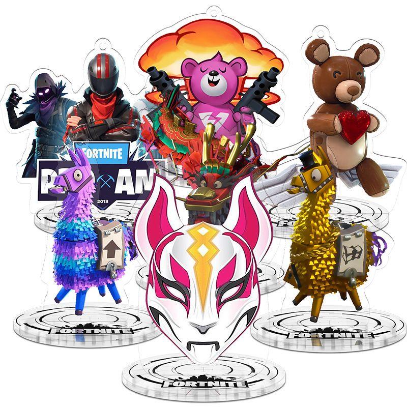 Fortnite Action Figures Toys Cartoon Fortnite Keychain Acrylic
