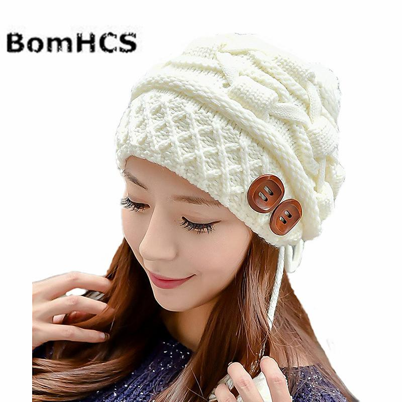 bef00deea BomHCS Sweet Women's Fashion Winter Warm Cable Knit Thick Slouch Beanie Ear  Muff Cap