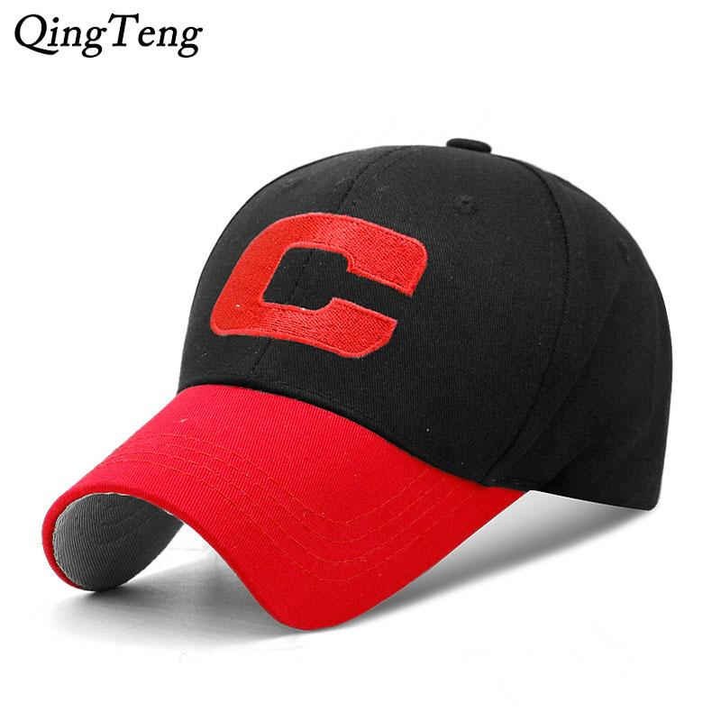C Logo Letter Baseball Cap Embroidery Casual Fitted Dad Hats For Men Cap  Casquette Fashion Gorra 2018 New Baseball Caps For Men Mesh Hats From ... d7b105ccb208