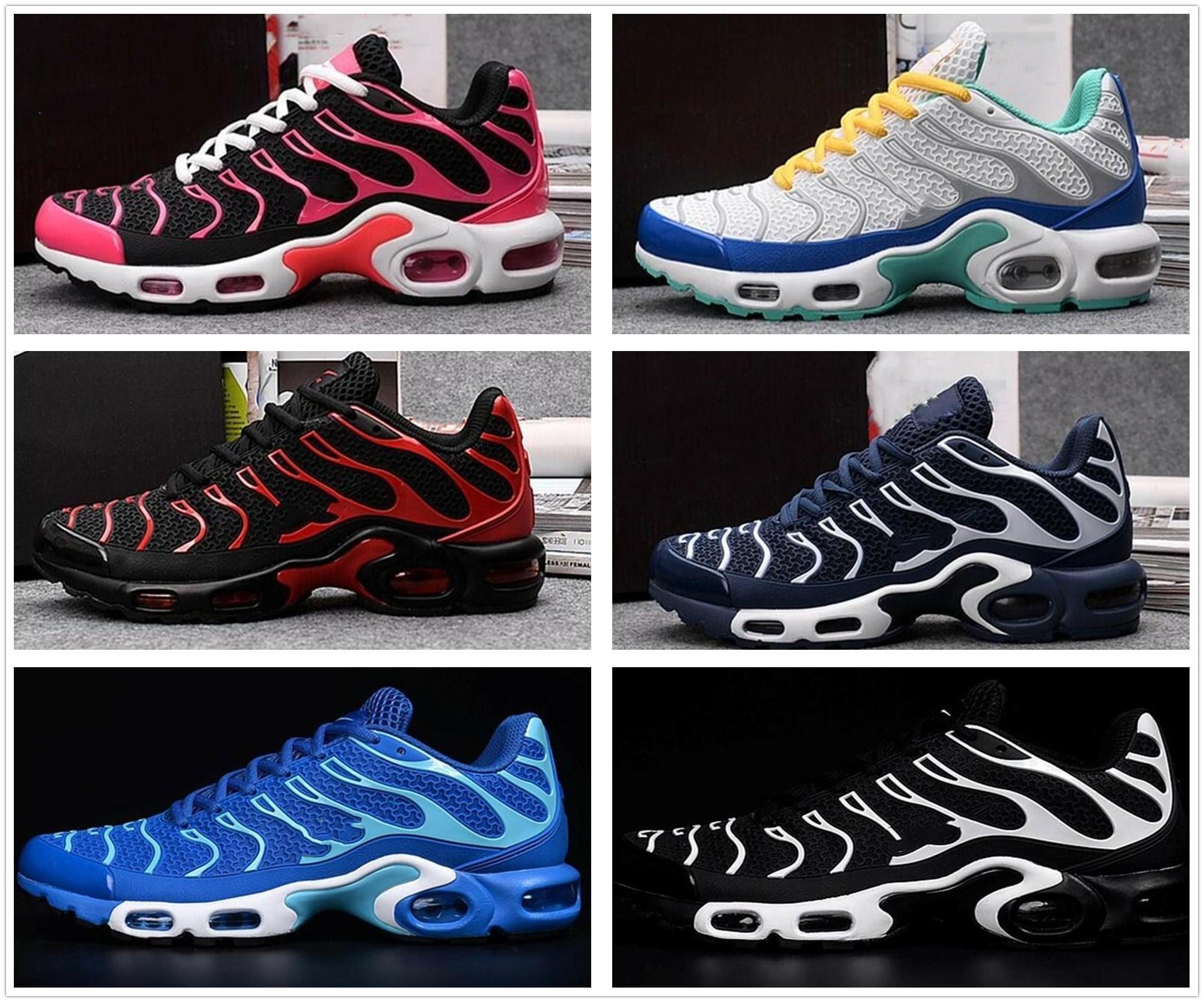 the latest 1ba8d b2b1d Acheter 2017 Nouveau TNS Maxes Hommes Femmes Haute Qualité Chaussures De Course  TN Nanotechnologie KPU Matériel Classique Durable Sport Sneakers Navire ...