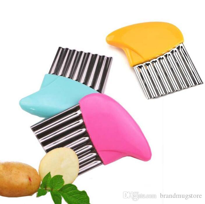 Cucumber Stainless Steel Manual Shredder Multifunction Cut French Fries Ripple Wave Kitchen Knives Cut Potatoes Wire Knife